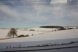 snow field, england