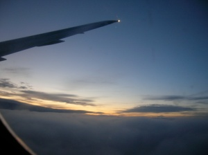 sunset somewhere over the north atlantic