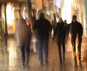walking through york at night