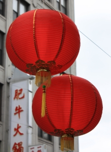 red lanters for chinese new year, boston