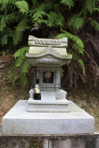 shrine and offering,  mt misen, miyajima island