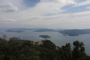 view from the top of mt. misen, miyajima island