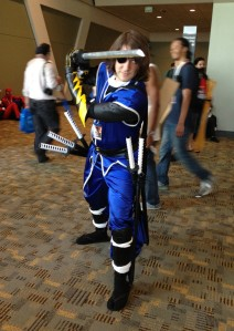 otakon cosplayer with sword