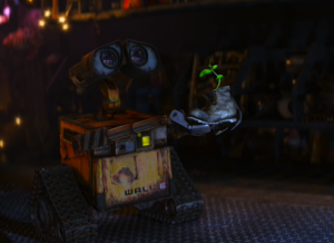 wall-e with plant